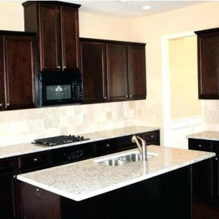 +44 Finding Dark Kitchen Cabinets And Light Granite 122