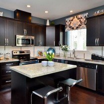 +44 Finding Dark Kitchen Cabinets And Light Granite 4