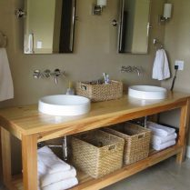 46+That Will Motivate You Farmhouse Bathroom Colors Rustic 46