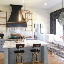 35+ Natural Rustic And Classic Glam Kitchen Decorating Ideas 125