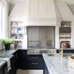35+ Natural Rustic And Classic Glam Kitchen Decorating Ideas 233