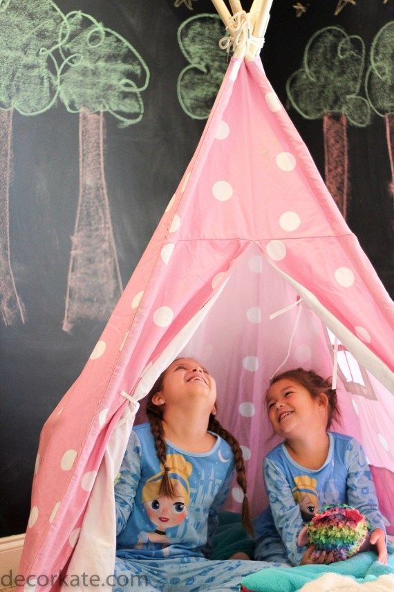 tent in playroom
