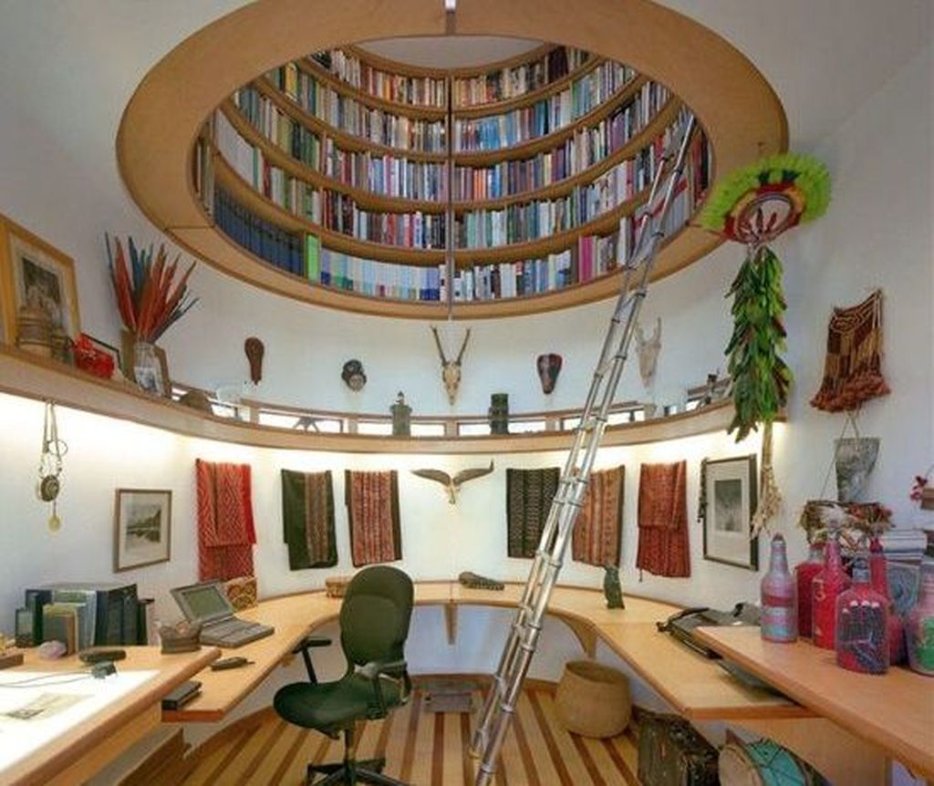 Smart Library Design Ideas For Home To Add To Your List 09