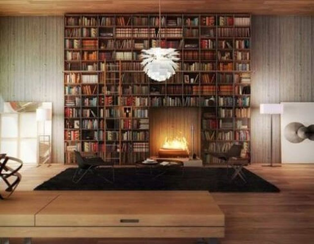 Smart Library Design Ideas For Home To Add To Your List 28