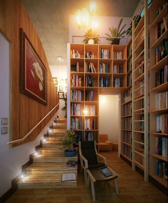 Smart Library Design Ideas For Home To Add To Your List 35