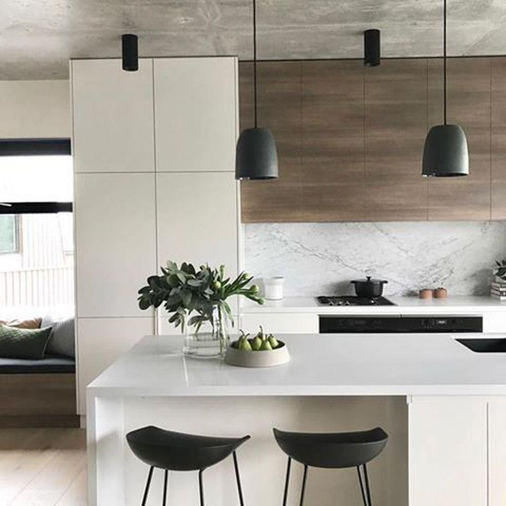 35 Elegant Minimalist Kitchen Design Ideas For Small Space ...