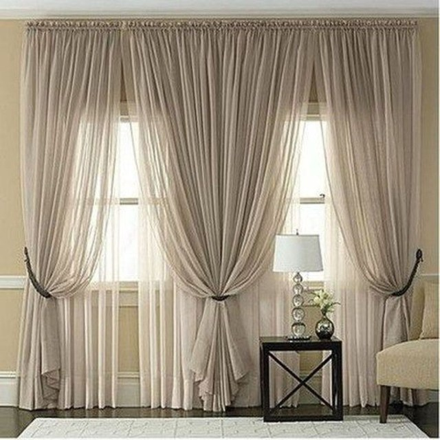 Inexpensive Living Room Curtain Design Ideas On A Budget 31
