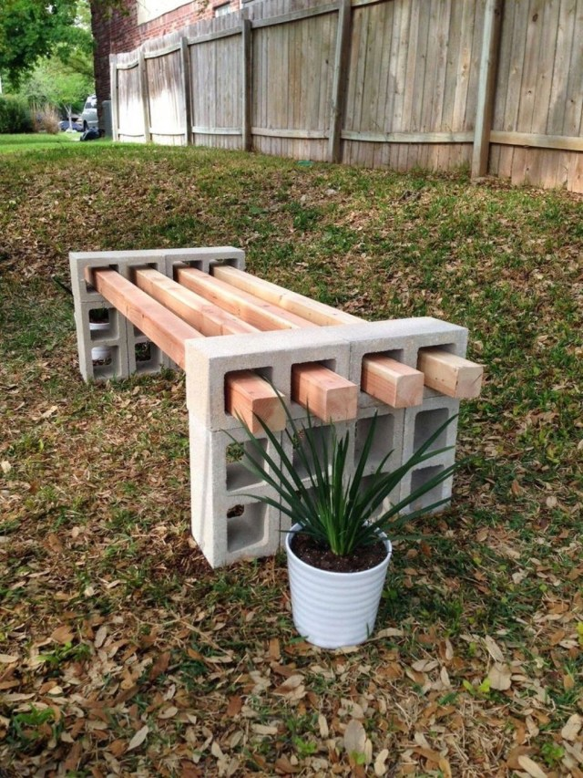 Stylish Garden Design Ideas With Cinder Block To Try 09
