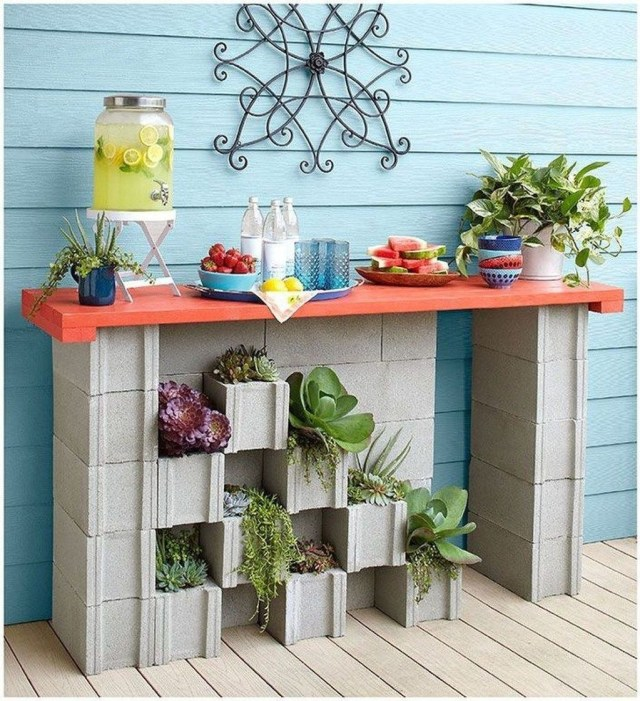 Stylish Garden Design Ideas With Cinder Block To Try 17