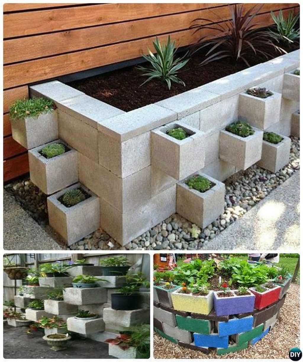 Stylish Garden Design Ideas With Cinder Block To Try 24