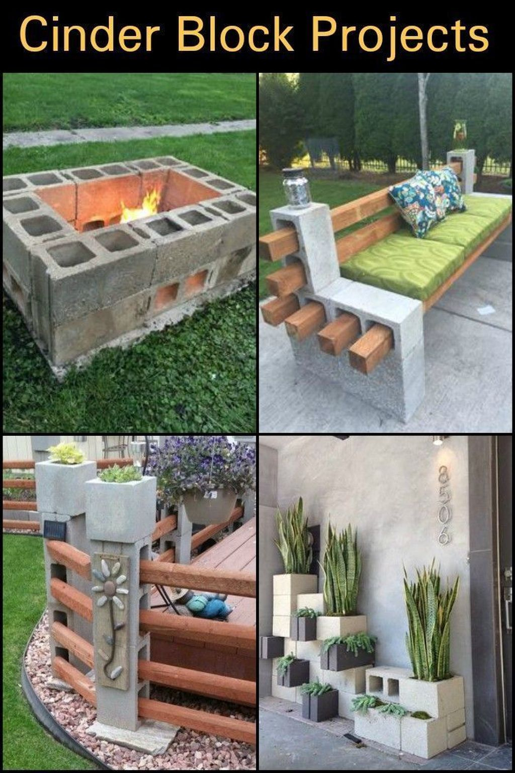 Stylish Garden Design Ideas With Cinder Block To Try 32
