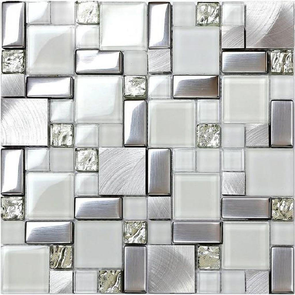 Superb Glitter Kitchen Tiles Design Ideas To Try Nowaday 15