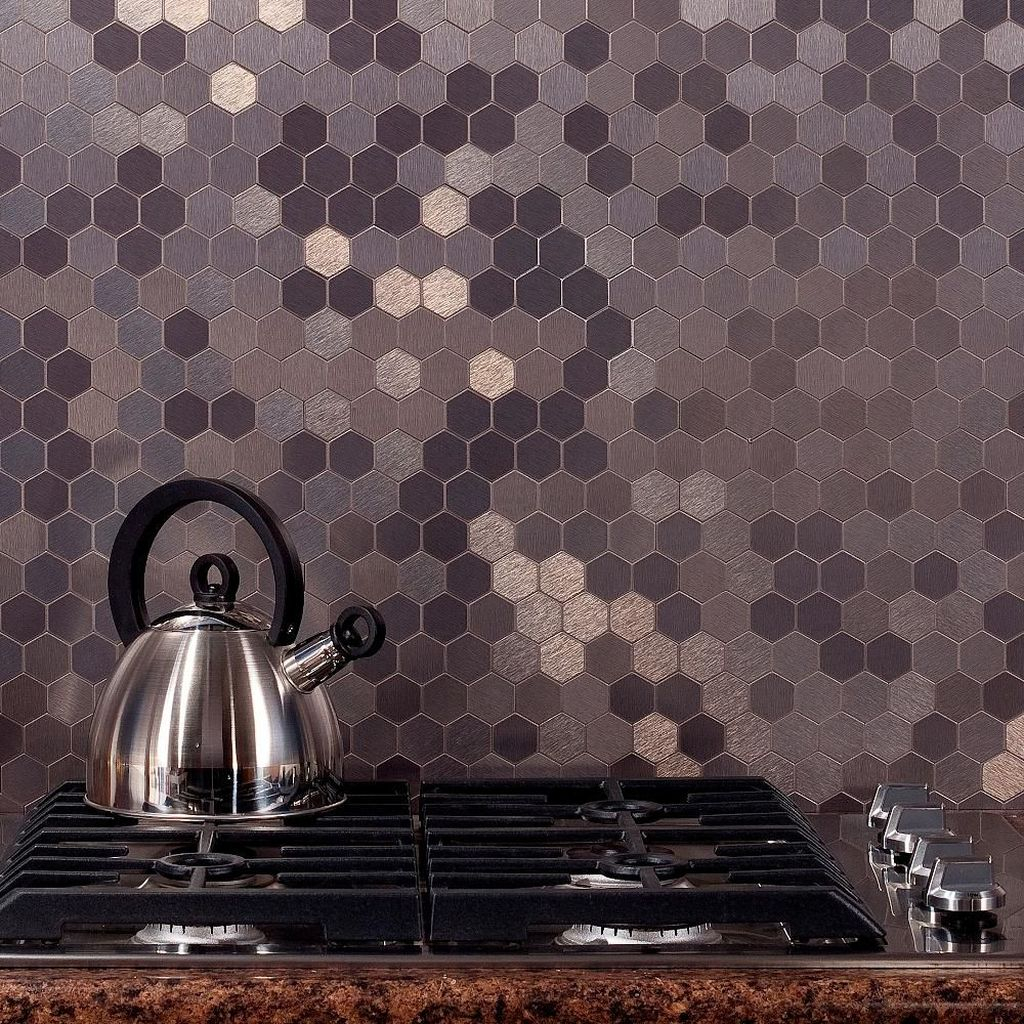 Superb Glitter Kitchen Tiles Design Ideas To Try Nowaday 23