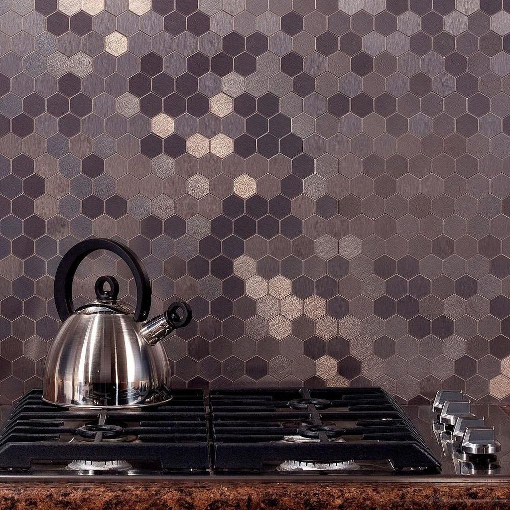 Superb Glitter Kitchen Tiles Design Ideas To Try Nowaday 23