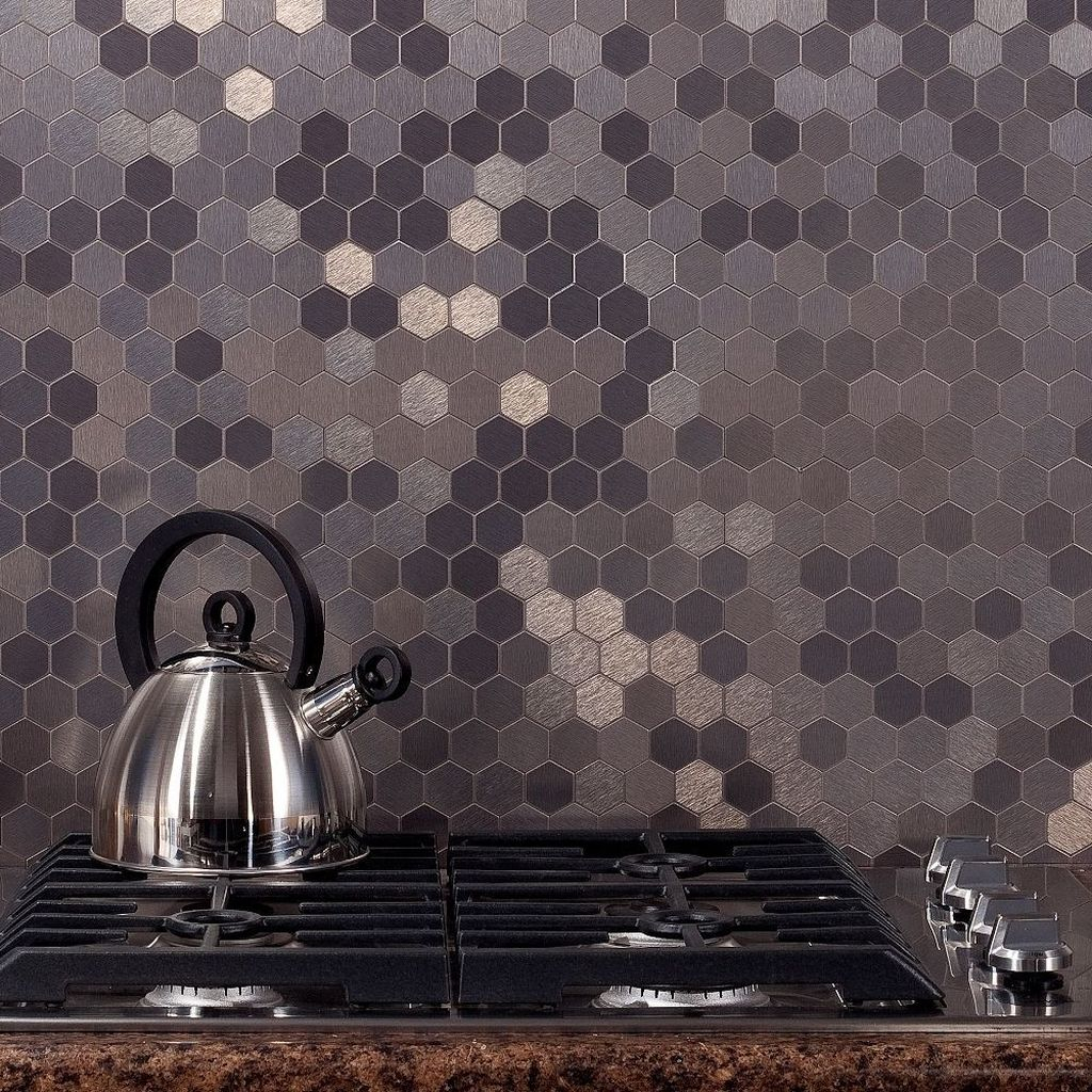 Superb Glitter Kitchen Tiles Design Ideas To Try Nowaday 26