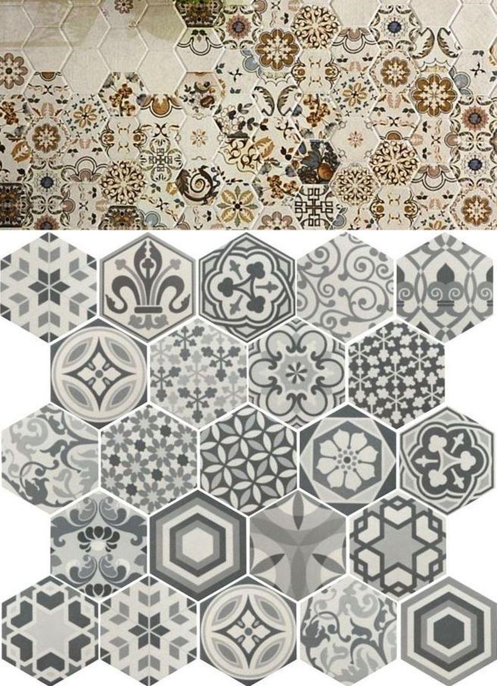 Superb Glitter Kitchen Tiles Design Ideas To Try Nowaday 32
