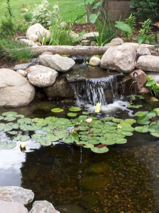 Creative Backyard Ponds Ideas With Waterfalls To Try 11