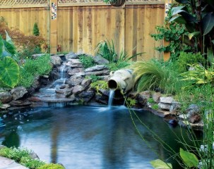 Creative Backyard Ponds Ideas With Waterfalls To Try 14
