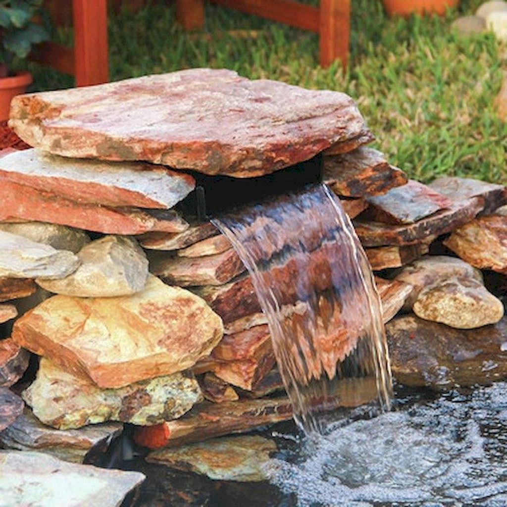 Creative Backyard Ponds Ideas With Waterfalls To Try 34