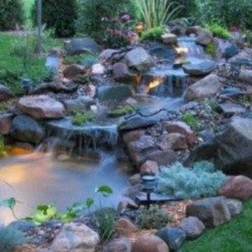 Creative Backyard Ponds Ideas With Waterfalls To Try 35