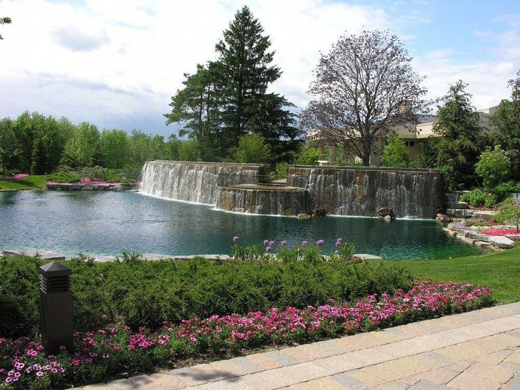 Creative Backyard Ponds Ideas With Waterfalls To Try 37