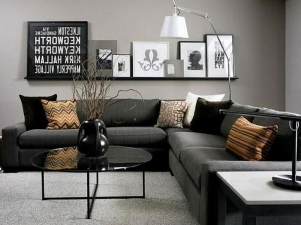 Luxury Living Room Design Ideas With Gray Wall Color 10