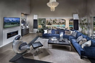 Luxury Living Room Design Ideas With Gray Wall Color 15