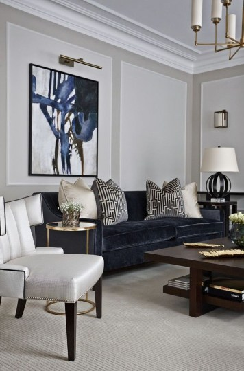 Luxury Living Room Design Ideas With Gray Wall Color 16