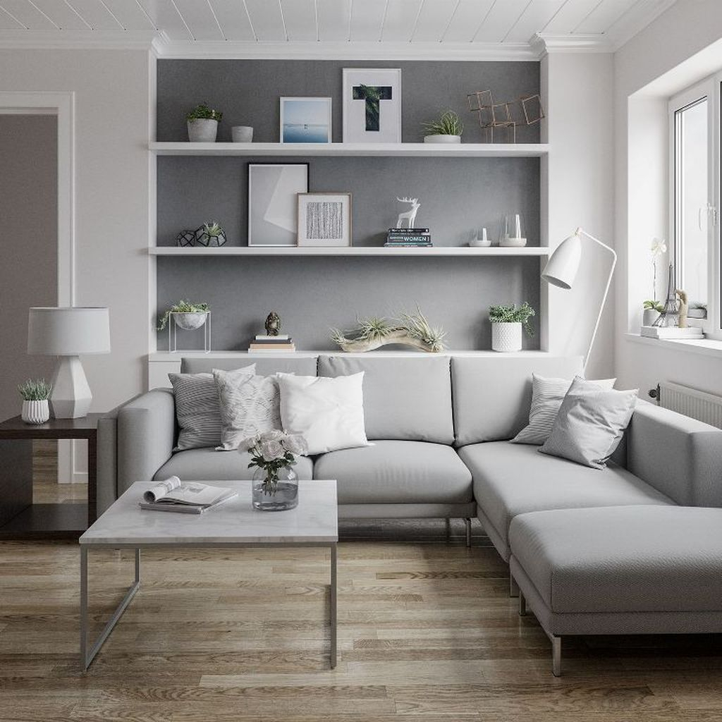 Luxury Living Room Design Ideas With Gray Wall Color 25