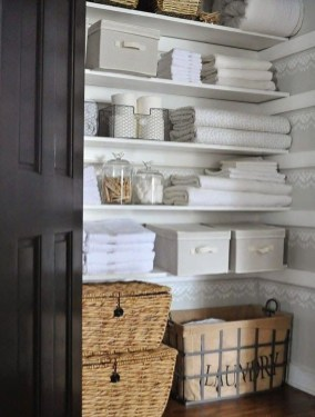 Smart Linen Closet Organization Makeover Ideas To Try This Year 35