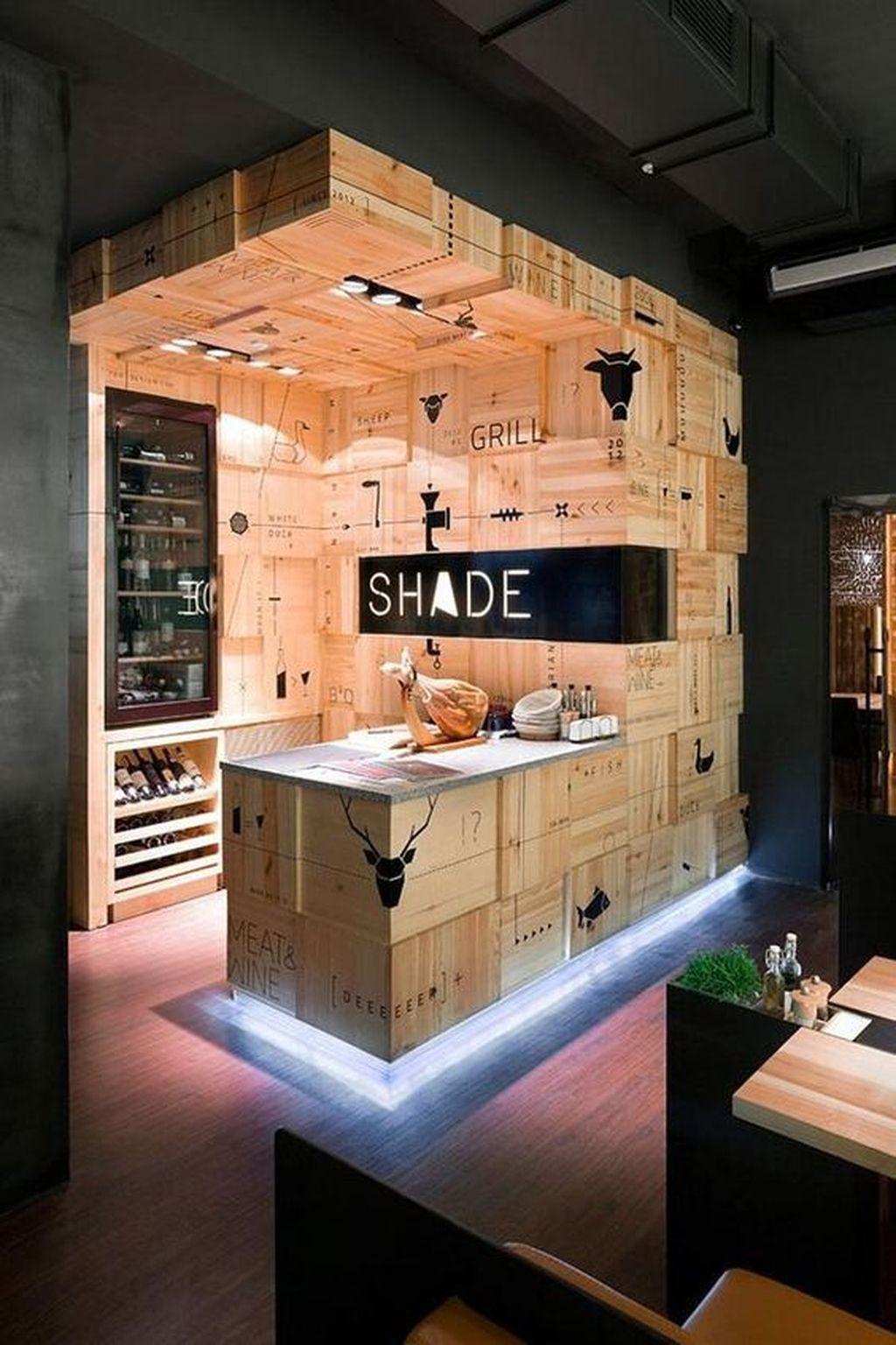 Trendy Pallet Mini Bar Design Ideas To Try 14