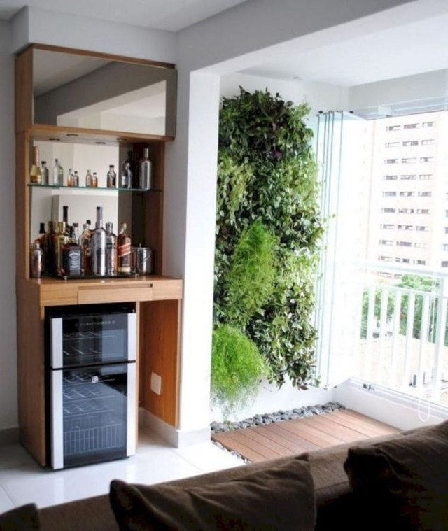 Trendy Pallet Mini Bar Design Ideas To Try 32