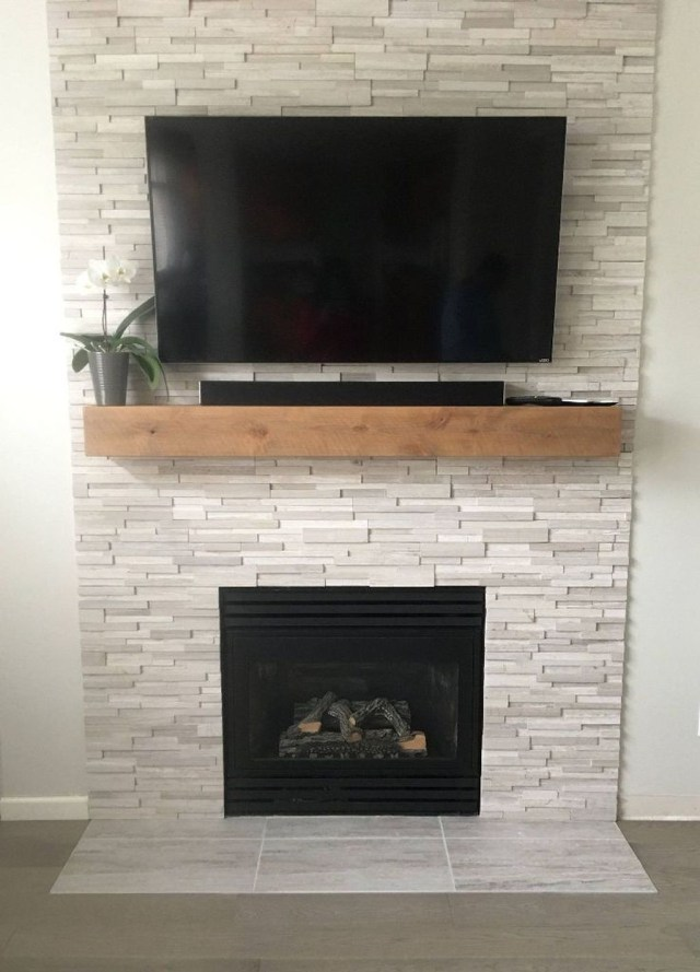 Luxury Clad Cover Fireplace Ideas To Try 04