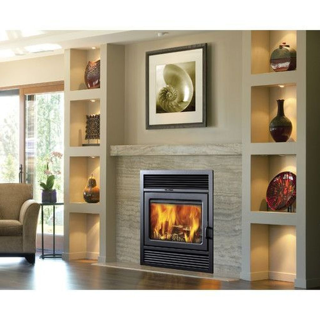 Luxury Clad Cover Fireplace Ideas To Try 35