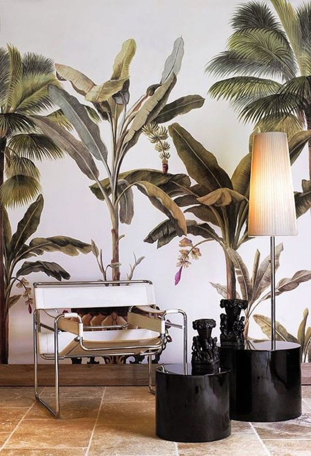 Splendid Tropical Leaf Decor Ideas For Home Design 07