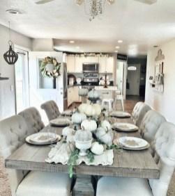 Adorable Fall Farmhouse Dining Room Decor Ideas 27