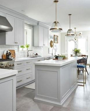 Fancy White Kitchen Cabinets Ideas To Try Asap 08