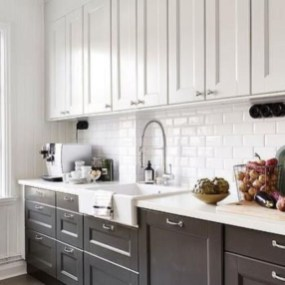 Fancy White Kitchen Cabinets Ideas To Try Asap 21