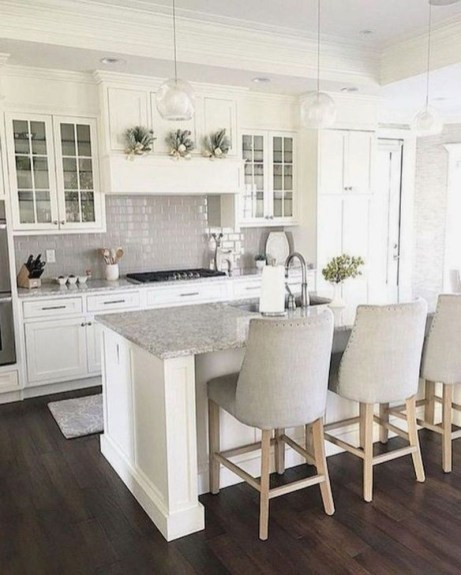Fancy White Kitchen Cabinets Ideas To Try Asap 22