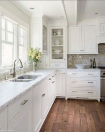 Fancy White Kitchen Cabinets Ideas To Try Asap 34