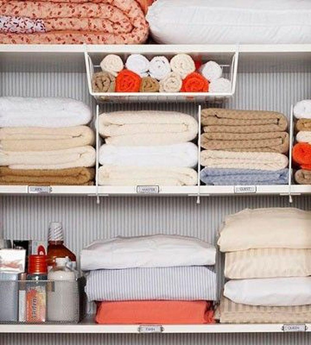 Affordable Diy Organization Bathroom Design Ideas For Bottle And Towel Labels30