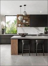 Amazing Scandinavian Kitchen Design Ideas With Island And Cabinets To Try14
