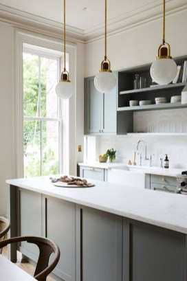 Amazing Scandinavian Kitchen Design Ideas With Island And Cabinets To Try18