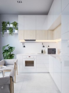 Amazing Scandinavian Kitchen Design Ideas With Island And Cabinets To Try20