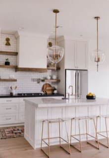 Amazing Scandinavian Kitchen Design Ideas With Island And Cabinets To Try30