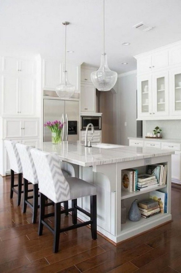 Amazing Scandinavian Kitchen Design Ideas With Island And Cabinets To Try38
