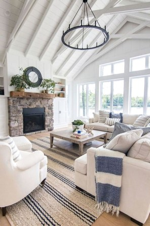 Comfy Farmhouse Living Room Decor Ideas That Make You Feel In Village 38