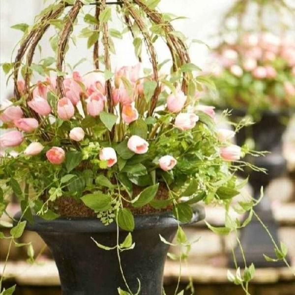 Impressive Summer Planter Design Ideas For Front Yard Decoration 02