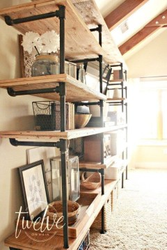 Rustic Diy Industrial Pipe Shelves Design Ideas For You 01