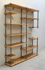 Rustic Diy Industrial Pipe Shelves Design Ideas For You 03